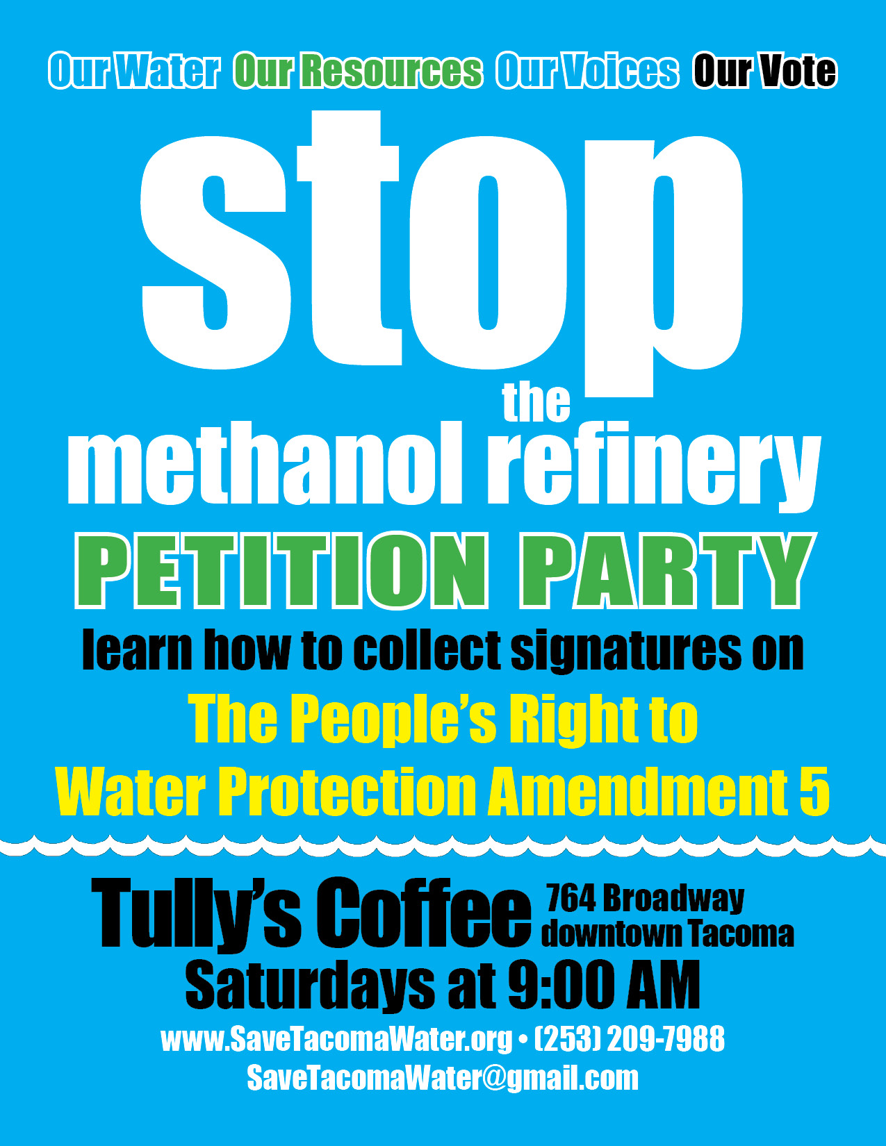Stop the Methanol Refinery flyer