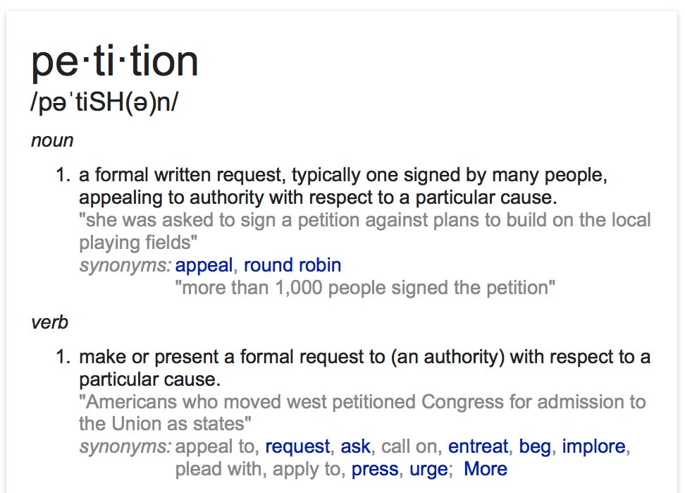 petition definition