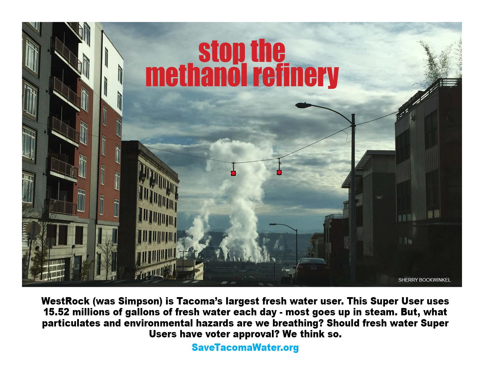 Westrock steam Stop the Methanol