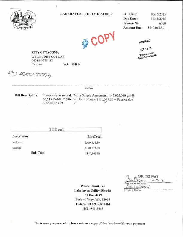 Invoice for Lakehaven Water Purchase-page-001